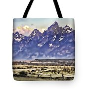 Ranch In Style Of A Watercolor Tote Bag