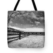 Ranch In Winter Tote Bag