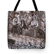 Ranch Women Picking Berries Historical Vignette Tote Bag
