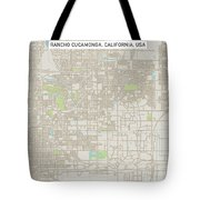 Rancho Cucamonga California Us City Street Map Tote Bag