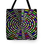 Random Color Oval Abstract Tote Bag