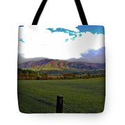 Range Neath The Mountain Tote Bag by DigiArt Diaries by Vicky B Fuller