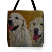 Ranger And Riley Waiting For A Command Tote Bag