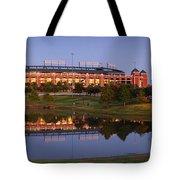 Rangers Ballpark In Arlington At Dusk Tote Bag