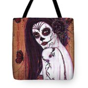 Ranita Day Of The Dead Tote Bag