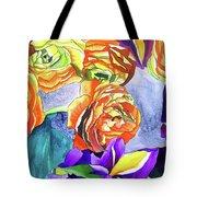 Ranunculus And Iris Tote Bag