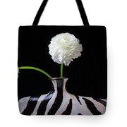 Ranunculus In Black And Whie Vase Tote Bag
