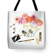 Ranunculus With First Watercolor Tote Bag