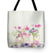 Ranunculus With Love In A Mist Tote Bag