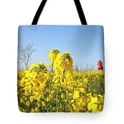 Rape Field With Photographer Tote Bag