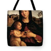 Raphael Madonna And Child C Tote Bag