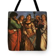 Raphael St Cecilia With Sts Paul John Evangelists Augustine And Mary Magdalene Tote Bag