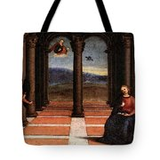 Raphael The Annunciation  Oddi Altar Predella  Tote Bag