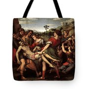 Raphael The Entombment Tote Bag
