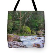 Rapids At The Rivers Bend Tote Bag