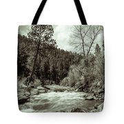 Rapids During Spring Flow On The South Platte River Tote Bag