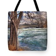 Rapids In Fall Tote Bag