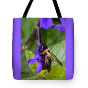 Rappelling Down A Flower Tote Bag