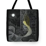 Rapunzel By Night Tote Bag