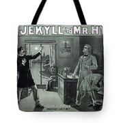 Rare Dr. Jekyll And Mr. Hyde Transformation Poster Tote Bag
