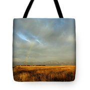 rare Morning Rainbow Tote Bag