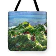Rarotonga, Te Kou Mountain View Tote Bag by Judith Kunzle