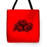 Raspberries Image Tote Bag