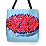 Raspberry And Blueberry Tart Tote Bag