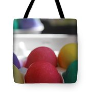 Raspberry And Hawaiian Surf Colored Easter Eggs Tote Bag