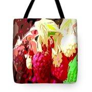 Raspberry Bush Tote Bag