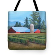 Raspberry Fields Forever Tote Bag