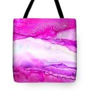 Raspberry Slope Tote Bag