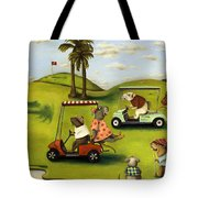 Rat Race 2  At The Golf Course Tote Bag