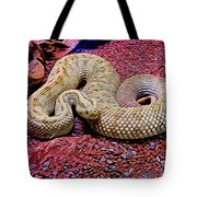 Rattlesnake In Abstract Tote Bag