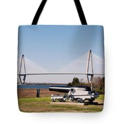 Ravanel Bridge From The Patriot Point Tote Bag