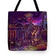 Raven Castle Ruin Trees Sky  Tote Bag
