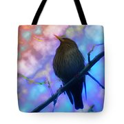 Raven In Spring Tote Bag