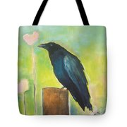 Raven In The Garden Tote Bag
