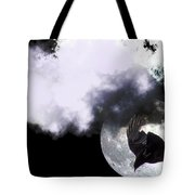 Raven Moon Tote Bag