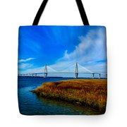 Ravenal Bridge Charleston South Carolina Tote Bag