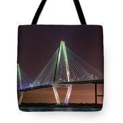 Ravenel Bridge Twilight Tote Bag
