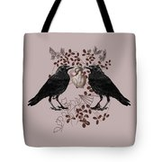 Ravens And Anatomical Heart Tote Bag
