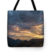 Rays Above Tecate Peak Tote Bag