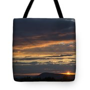 Rays At Sunset Tote Bag