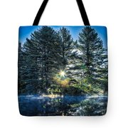 Rays Of Light On The Androscoggin River Tote Bag