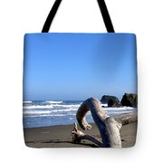 Reaching Back To The Sea Tote Bag