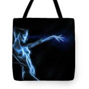 Reaching Figure Darkness Tote Bag