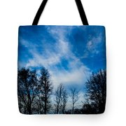 Reaching For Blue Tote Bag