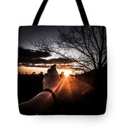Reaching Out To Dad In Heaven  Tote Bag by Kim Loftis