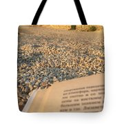Reading A Book On Pebble Beach Tote Bag